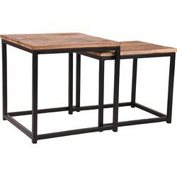 LABEL51 - Salontafel Set Twain 45x45x45 cm - Industrieel - Rough