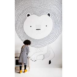 Leeuw beige kinderbehang Studio Claas