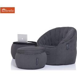 Ambient Lounge Outdoor Designer Set Contempo Package - Black Rock Sunbrella