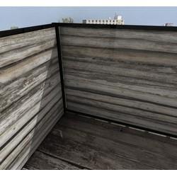 Balkonafscheiding planken horizontaal (100x150cm Enkelzijdig)