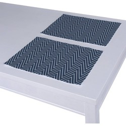 Placemats 2 st. donkerblauw