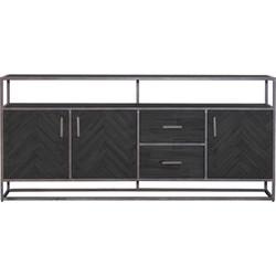Eleonora dressoir Hudson zwart L 90 x 200 x 42