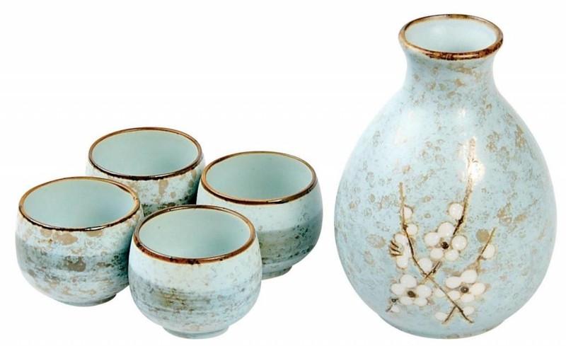 Fine Asianliving Japanse Soshun Sake Set Matte Blauw -