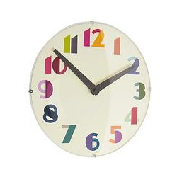 London Clock Company Geo Domed Wall Clock, 30cm