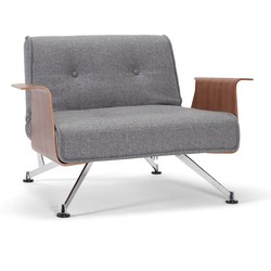 Innovation Fauteuil Clubber Armleuningen - Twist 563 - Charcoal
