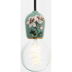 Hommage Department HD.104GN.SBK Lamp met schakelaar - Flowers - Ø6 x H8,5 cm - Groen