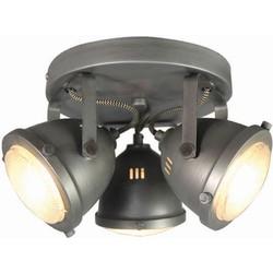 LABEL51 - LED Spot Moto 3-Lichts 30x30x16 cm - Industrieel -