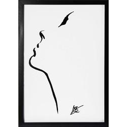 Riverdale Silhouette Schilderij MDF/Glas Zwart - 50 x 70 cm