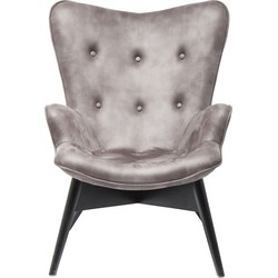 Kare Design Fauteuil Angels Wings Anthracite Eco - Grijs