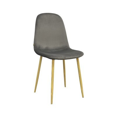 Stockholm stoel - velvet antraciet - set van 4 -