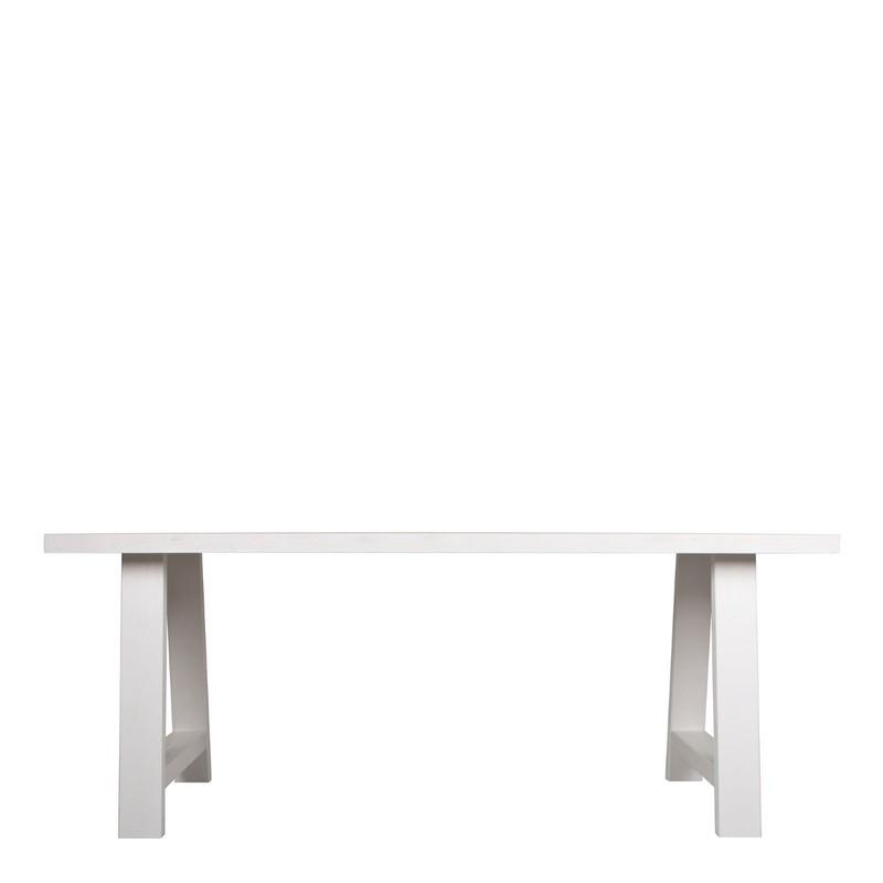 Tafelblad 180 X 85.Zuiver Eettafel A Framed Wit 76 X 180 X 85