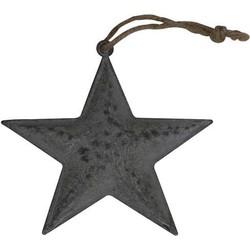 Deco Star 15x1cm Zink