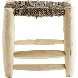 Hocker Holz nature 30 x 30 cm