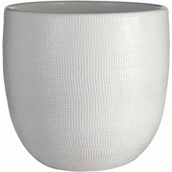 Mica Decorations pot rond daimon maat in cm: 22.5 x 24 wit