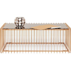 Kare Design Salontafel Wire Rechthoek L115 X B57 X H42 Cm - Glas Koper Kleur