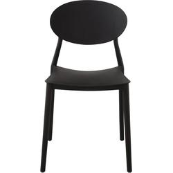 Mega stoel - zwart - set van 4