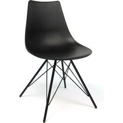 Design eetkamerstoel Preston zwart