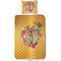 Melli Mello Golden dekbedovertrek goud 1-persoons (140x200/220 cm + 1 sloop)