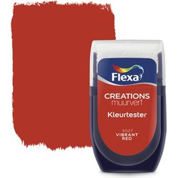 Muurverf Tester 3027 Vibrant Red 30 ml