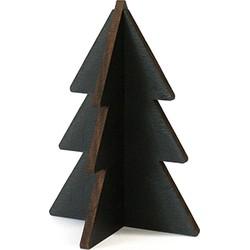 Villa Madelief Hippe kerstboom zwart hout 12cm