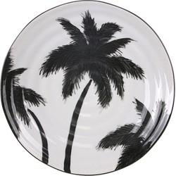 HK-living serveer bord palmbomen jungle 26,5x26,5x1,5 cm
