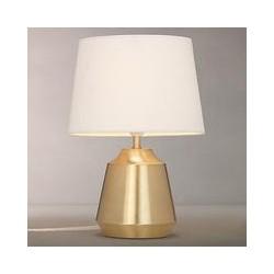 John Lewis Lupin Table Lamp, Brass/White