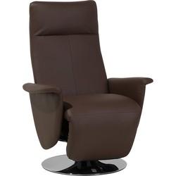 Kunstlederen fauteuil bruin PRIME