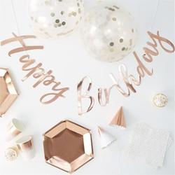 Party in a Box Feestpakket - Rosé goud (16 personen)