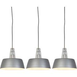 Set of 3 Modern Pendant Lamps Grey - Manu