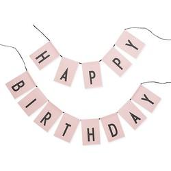 Design Letters Happy Birthday Slinger - Roze