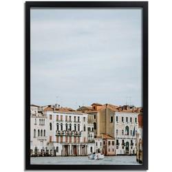 Venetie poster DesignClaud - Kanaal - Venetiaanse architectuur- A3 + fotolijst zwart