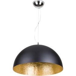 Linea Verdace Hanglamp Cupula Ø50cm Mat Zwart - Goud