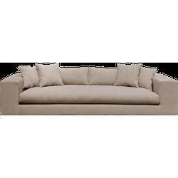 Lux - 4 zitsbank - Lichtbruin