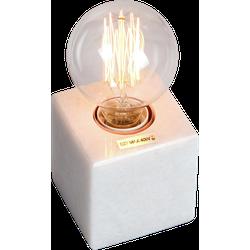 Tafellamp Sweden vierkant 8.5 x 8.5 cm marmer wit