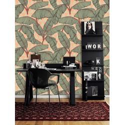 Zelfklevend behang Palmblad groen oranje 122x275 cm