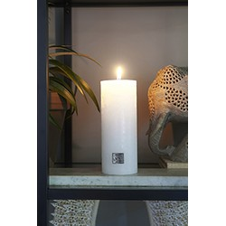 Rivièra Maison Rustic Candle frosted white 7x18 Kaars