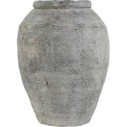 HK-living vaas cement afwerking grijs large 24x24x33cm