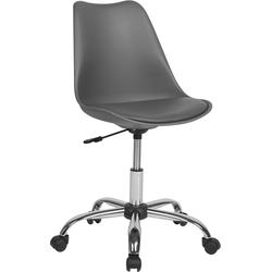 Bureaustoel met wielen grijs kunstleer DAKOTA II