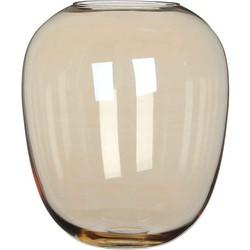 Casa Vivante meera glazen vaas goud maat in cm: 27 x 23