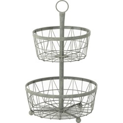 Light&Living Etagere Jagua Grijs 2 Laags 55 x Ø33