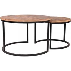 AnLi-Style Salontafelset Balk Set Van 2