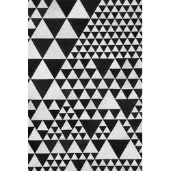 Linie Design Leather Pyramid white/black - 170 x 240 cm