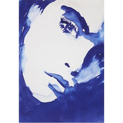 HKliving canvas print portret blauw wit Tiny stories