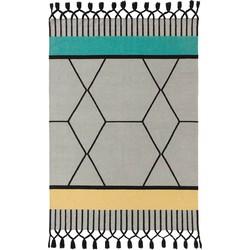 GAN rugs Vloerkleed Kelim Lima Odosdesign Blue - 200 x 300 cm