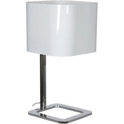 Linea Verdace Tafellamp Quadro - H48 Cm - Wit/Chroom
