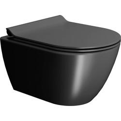 Ben Segno Wandcloset Compact FreeFlush Xtra Glaze Dual Mat Zwart