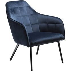 Dan-Form Embrace Loungefauteuil - Blauw Fluweel