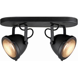 LABEL51 - LED Spot Moto 2-Lichts 35x12x16 cm - Industrieel - Zwart