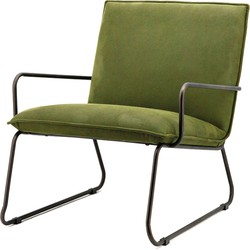 Eleonora Fauteuil Delta Polyester groen 77 x 67 x 78