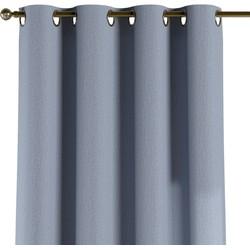 Gordijn met ringen zilver-blauw